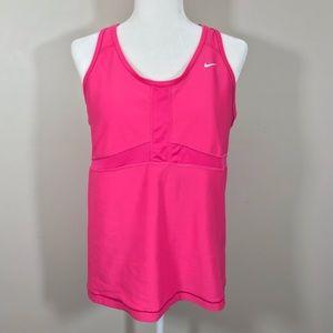 Nike pink drifit work out tank built in bra 1X